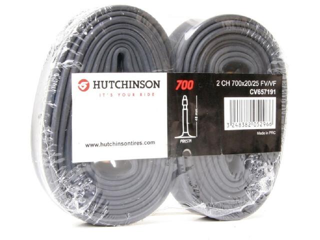 """Hutchinson Road Cykelslange 28"""" 2er-pakke sort"""